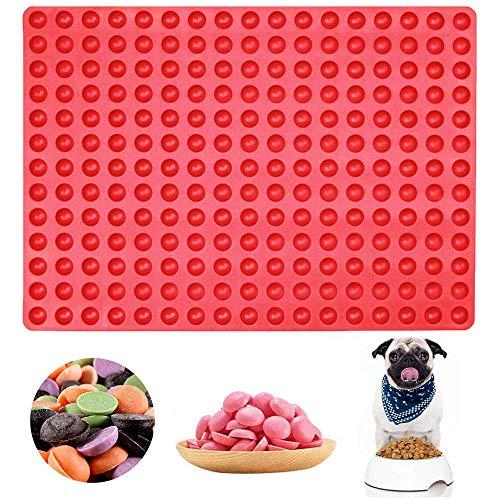 hengtaiwei Kleine Runde Silikonform mit 221 Kavitäten, Backform Hundekekse, Durchmesser 1.5 cm Halbkugelförmige Süßigkeiten Formen, Backform für Kekse, Geleebonbons und Eiswürfel