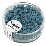 Rayher 14308404 Metallic-Würfel, matt, 3,4 mm, Dose 15g, türkis