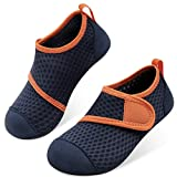 JOINFREE Toddler Kid Water Shoes Aqua Shoes Swimming Beach Athletic Shoes for Boys Girs Blue Orange 12.5-13 Little Kid