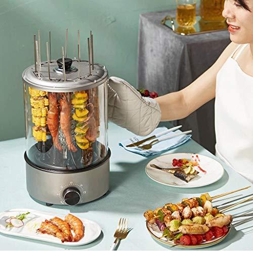 518RcwCw uL - WZHZJ Haushaltsrauchfreie Automatische Rotating Grillspieße, Lammspieße Grill/Barbecue-Maschine