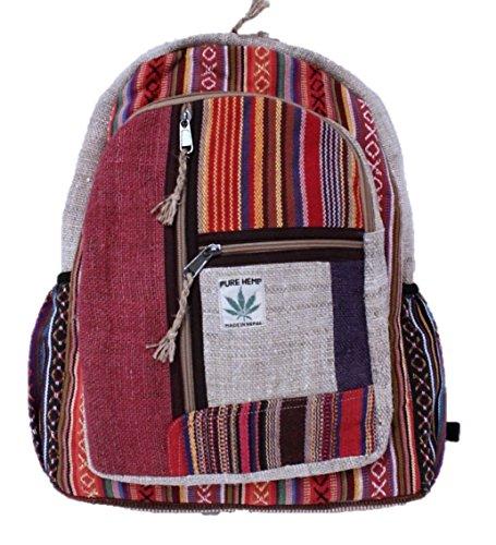 Rucksack aus Hanf, cultbagz Nepal Hand Made, bagpack Stripes