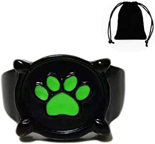 XUNER Cat Noir Ladybug Ring for Kids Black Cat Noir Gril Ring Ladybug Costume Rings Boy US Size 6 7 8 Cosplay Accessories