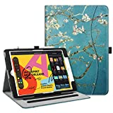 Fintie Case for New iPad 7th Generation 10.2 Inch 2019 - [Corner Protection] Multi-Angle Viewing Folio Smart Stand Back Cover with Pocket, Pencil Holder, Auto Wake/Sleep for iPad 10.2', Blossom