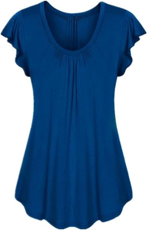 Women's U-Neck Elegant Floral Flower Print Pullover Tank Tops Summer Casual Sleeveless Shirts Tops Tee Plus Size
