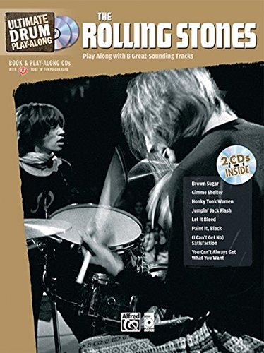 Ultimate Drum Play-Along Rolling Stones: Authentic Drum (Book & CD) --- Percussions - Rolling Stones --- Alfred Publishing