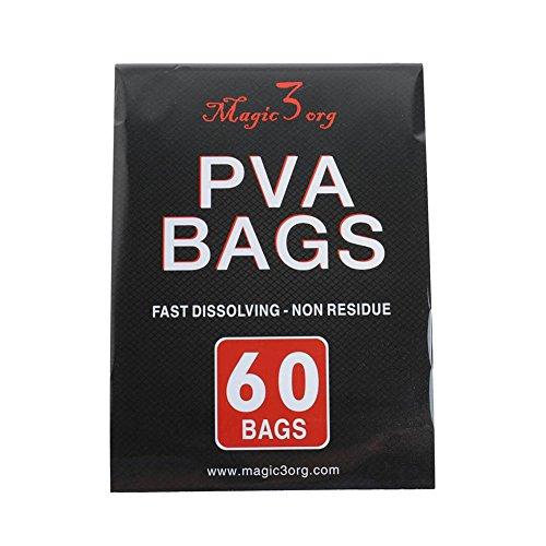 Bolsa de PVA para pesca de carpas Dr. Fish, paquete con 60, ecológica, tamaños 70x 100, 100x 130, 70x 200 y 50x 100 mm, 50 X 100MM