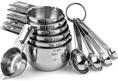 Hudson Essentials Stainless Steel Measuring Cups...