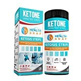 HealthSnap Urine Ketosis Test Strips, Quick and Easy Testing for Ketones, 130 Keto Urinalysis Strips - Perfect for Those on a Low Carb, Paleo, or Ketogenic Diet - Free Keto eBook Included