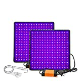 Phytolamp LED para plantas 1000W Phyto Lámpara de Phyto Spectrum Completo Cultivar Tablero Luz Interior Crecimiento Tienda Orquídeas Flor Luces (Emitting Color : 2pcs blue and red)
