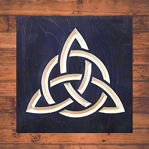 True Stock Studios Celtic Trinity 12 x 12 Inch Irish Wall Art, Handmade Wood Sign Home Decor, Celtic Knot Wall Art, Irish Trinity Knot Room Decoration, Scottish Housewarming Gift