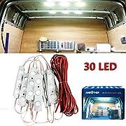 AMBOTHER LED Innenbeleuchtung 10x3 LED Innenraumbeleuchtung Leseleuchte Einbauleuchte Unterbauleuchte Arbeitslicht 12V DC Weiß 6000K