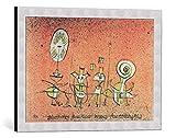 Kunst für Alle Cuadro con Marco: Paul Klee Die heitere Seite Weimar Bauhaus-Ausstellung 1923 Bauhaus - Impresión artística Decorativa con Marco, 60x40 cm, Plata cepillada
