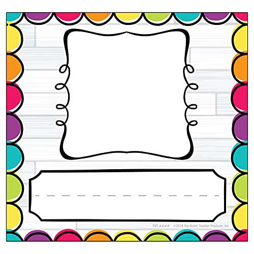 Top Notch Teacher Products DIY Dots Picture Plates, Pack of 32