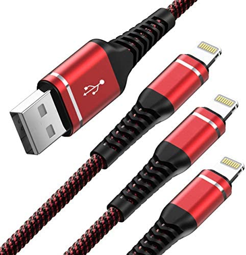 Heavy Duty Charger Cable 3Pack 6ft USB Charging Cable Braided Nylon Long Charger Cord Compatible product image