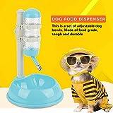 Sorand Tazón para Mascotas, tazón Ajustable para Perros, plástico para Ahorrar Espacio para Mascotas Gatos de Uso doméstico(Blue)