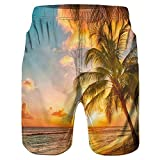 Xmiral Uomo Pantaloncini Shorts Badeshorts Bagno Costume da Bagno Beach Shorts Pantaloncini Spiaggia (L,6Giallo)