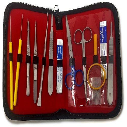 Dr. James 1008 Kit de dissection de haute qualité pour étudiants Acier inoxydable 14pièces