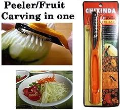 Thailand Papaya peeler fruit vegetable carving zig zag blade culinary art tool.