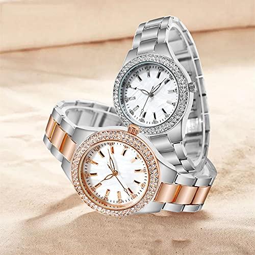 sulemaoyi0708 Diamond No-mecanical Quartes Reloj Movimiento Movimiento Reloj de Las señoras (Color : A)