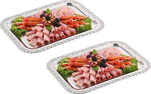 2 x Schlemmerplatte / Servierplatte / Fischplatte / Obstplatte | 42 x 31 cm