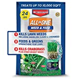 BioAdvanced 100532514 Lawn Fertilizer and Weed Killer, All-in-One Weed and Feed, 24-Pound, Granules