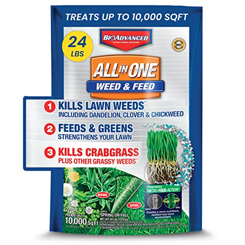 BioAdvanced Weed and Feed Crabgrass Killer Science-Based Solutions Lawn Fertilizer