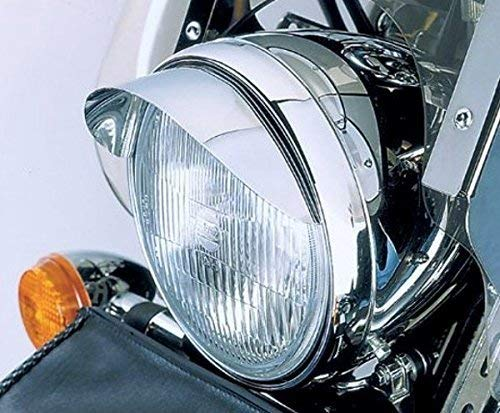 i5 Chrome 5.75' Headlight Visor for Harley Davidson Sportster Softail Dyna Road King Electra Tour Street Hydra Super Wide Glide Fat Boy V-Rod VRSC FXD FLD FLS FXS FX FL XL 883 1200