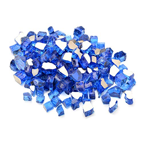 Onlyfire Reflective Fire Glass for Natural or Propane Fire Pit,...