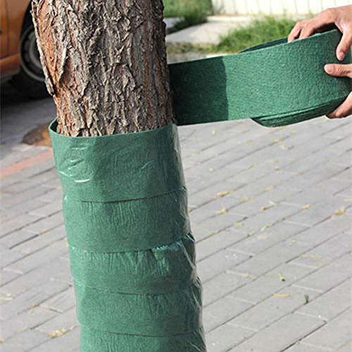 Protège-arbres résistant à l'hiver, 12CM X 20M Protecteurs de plantes Bandages Couvre-tronc d'arbre Tissu d'isolation thermique pour garder au chaud et hydrater une épaisse pellicule double couche