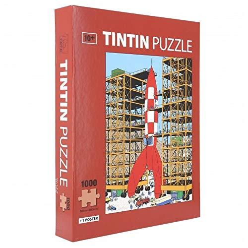 Moulinsart Puzzle Tintín, despegue del Cohete Lunar con Poster 50x66,5cm 81549 (2019)