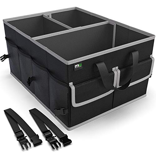 MIC COLOR Car Trunk Organizer for SUV, Collapsible Cargo Trunk Storage Organizer, Non Slip Bottom, Securing Straps