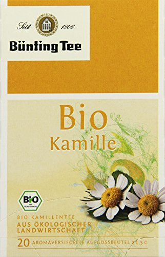 Bünting Tee Bio Tee Kamille , 3er Pack (3 x 30 g)