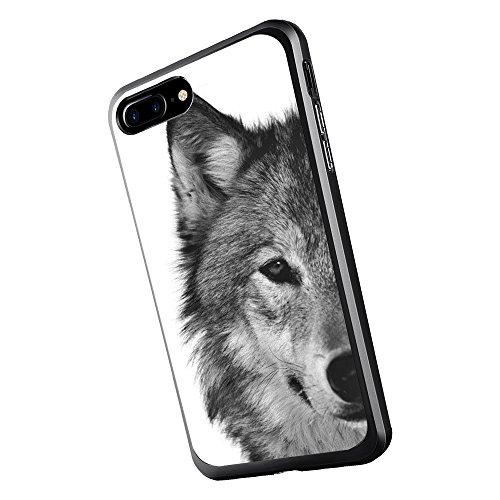 Inonler Lobo fría Funda(iPhone 7 Plus,Negro)