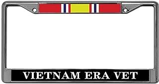 GND Vietnam ERA Vet Vehicle License Plate Frame,US Army Vietnam ERA Polished Stainless Steel License Plate Frame Resistant Slim Style for US Cars
