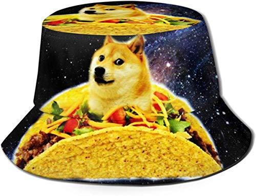 NA Hoed Taco Hond in Space1 Zon Fisherman Cap Outdoor Hoed UV Zonwering Hoed Opvouwbare Lichtgewicht Ademende Reispet Zwart