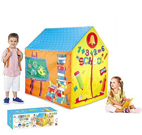 Ydq Kids Play Tent, School Houses Great Tractor Toy, Sun Shelter Playhouse | Den for Indoor Outdoor Garden Gazebo for Children Camping Picnic Travel