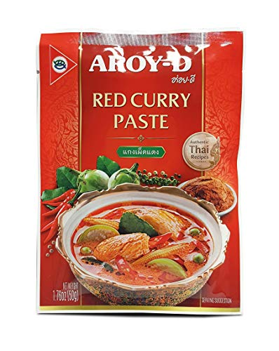 Pasta Curry Rojo Aroy-D 50gr
