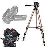 DURAGADGET Trípode Profesional para Videocámara Andoer ORDRO HDV-V7   Besteker portátil HD COMS   Canon LEGRIA HF R706   LEGRIA HF R86 - con Nivel De Burbuja