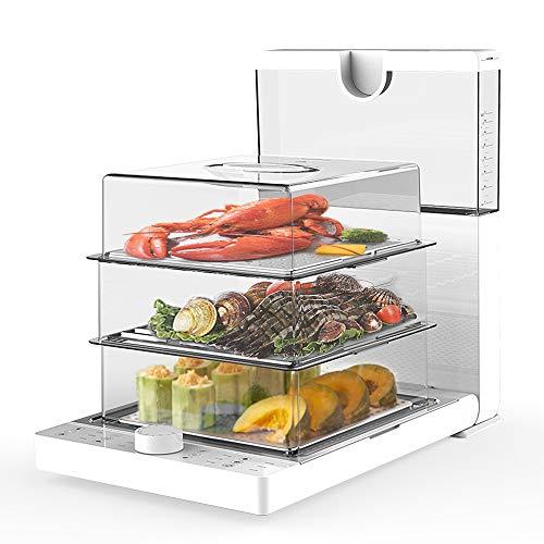 Food Steamer, 3 Liter Foldable Electric Steamer for Food, 1200W Fast Heating Digital Vegetable Steamer with Timer(18.8 QT)