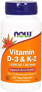 NOW Foods Vitamin D-3 & K-2 - 120 Veg Capsules