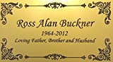Personalized Engraved Plate, 4.5' x 2.5' Gold Name Plate with Black, Plaque, Custom Engraving