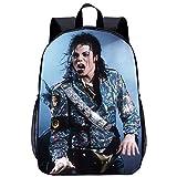 Michael Jackson Mochila Escolar Bolsa Impermeable Hombres Y Mujeres Mochila De Moda Bolsa De Viaje De Lona De Alta Capacidad Bolsa De Computadora