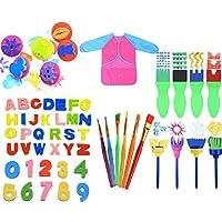 MYhose Pennelli per Pittura in Spugna per Bambini per l'apprendimento precoce Fai-da-Te, Kit per Pittura per Bambini, Colori Assortiti 56 Pezzi/Set #3
