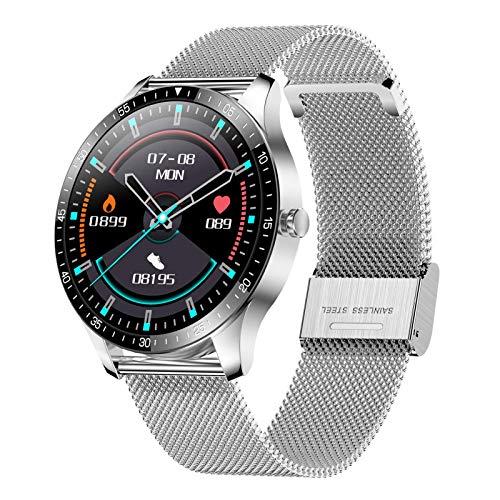 Leeofty Smartwatch, 1.28 Pollici Touch Uomo Orologio Fitness Donna,Contapassi Cardiofrequenzimetro da Polso Conta Calorie Fitness Tracker IP68 Compatibile con Android iOS