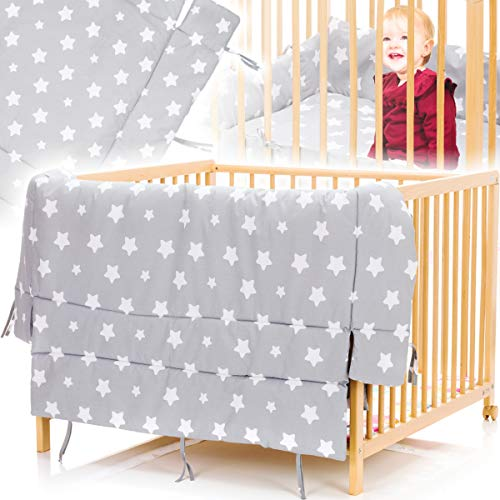 Tapis pour parc bébé - Motif étoiles - 100 x 100 cm ou 75 cm x 100cm - 100 % coton