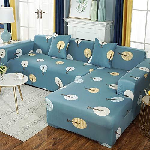QBFT L-vormige hoekbank sofa cover vier seizoenen universele hoes anti-slip volledige dekking bank covers 1 2 3 4 zits voor huishouden woonkamer etc.