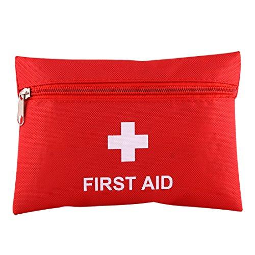 ZHOUSITONGEU 2 stuks Portable First Aid Kit met Bag, inclusief Sanitizing Pads, Gauzes, schaar, pleisters en pincet, willekeurige kleur Delivery