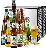 Assortiment de bières - Idée cadeau - Découverte de la bière - Dégustation (Coffret 11 bières du monde + 1 verre) - Idée cadeau Fête des Pères