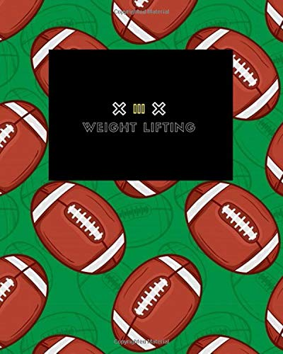 Weight Lifting: Blank Body Measurment Tracker, Funny Body Measurment Tracker, body tracker, Measurment Tracker, Writing ... for Body Measurment Tracker, gifts rugby ball