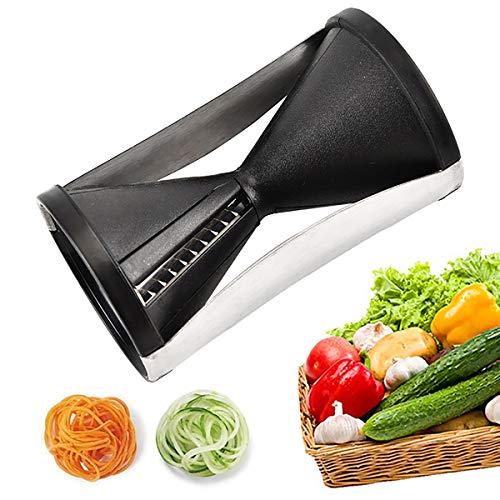 Spiralschneider, Multifunktion Gemüse Spiralschneider Hand Küchenreibe Spaghettischneider, Gemüsehobel für Karotte Gurke Kartoffel Kürbis Zucchini Zwiebel usw